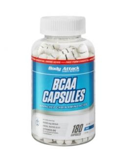 Body Attack BCAA Capsules, 180 Kaps.