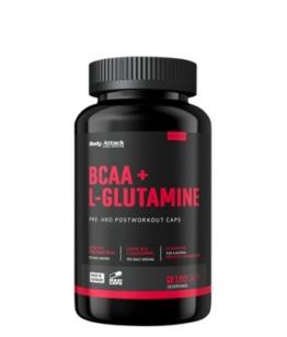 Body Attack BCAA + Glutamine 12000, 180 Kaps.