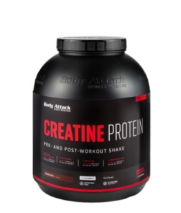 Body Attack Creatine Protein, 2000g Strawberry