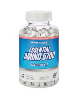 Body Attack Essential Aminos 5700, 180 Kaps.