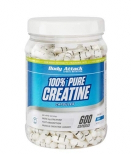 Body Attack Pure Creatine, 600 Kaps.