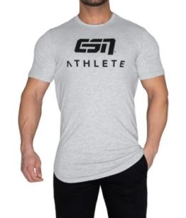 ESN Athlete T-Shirt, Grey Melange-Black L