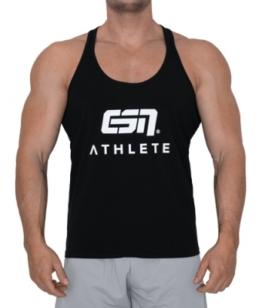 ESN Athlete Tank Top, Black-White 3XL