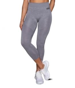 ESN Premium Seamless Leggings, Grey-Silver M-L