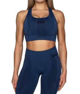 ESN Premium Seamless Sports Bra, Blue M-L