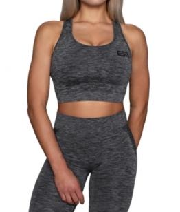 ESN Premium Seamless Sports Bra, Grey Melange S-M