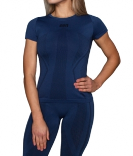 ESN Premium Seamless Women T-Shirt, Blue S-M