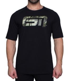 ESN Premium T-Shirt, Black-Camouflage S