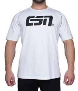 ESN Premium T-Shirt, White-Black M