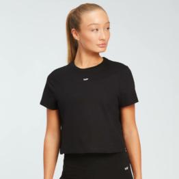 MP Damen Essentials Crop T-Shirt - Schwarz - XXS