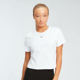 MP Damen Essentials Crop T-Shirt - Weiß - XXS