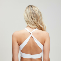 MP Damen Power Sport-BH mit gekreuztem Rücken - Weiß - XS