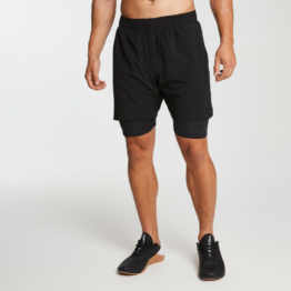 MP Herren Essentials 2-in-1 Training Shorts - Schwarz - XXS