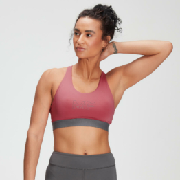MP Women's Branded Training Sports Bra - Berry Pink  - S