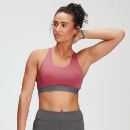MP Women's Branded Training Sports Bra - Berry Pink  - XXS