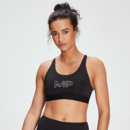 MP Women's Branded Training Sports Bra - Black  - XL