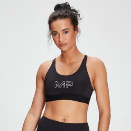 MP Women's Branded Training Sports Bra - Black  - XS