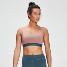 MP Women's Branded Training Sports Bra - Washed Pink  - XXS