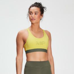 MP Women's Branded Training Sports Bra - Washed Yellow  - XXS