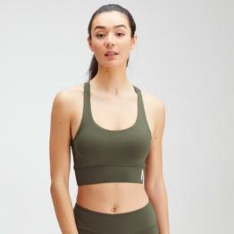 MP Women's Essentials Training Sports Bra - Dark Olive - XXS