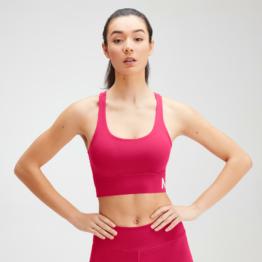 MP Women's Essentials Training Sports Bra - Virtual Pink - L