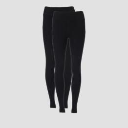 MP Women's Power Classic Leggings - Black/Black (2 Pack) - L