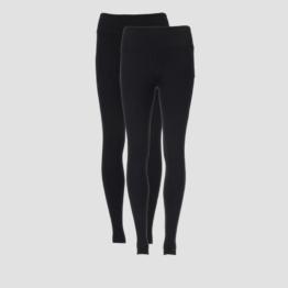 MP Women's Power Classic & Mesh Leggings - Black/Black (2 Pack) - XS