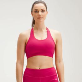 MP Women's Power Cross Back Sports Bra - Virtual Pink - L
