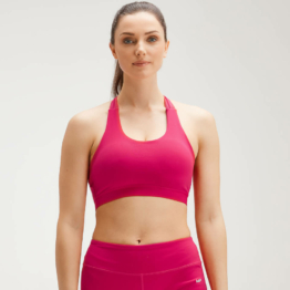 MP Women's Power Cross Back Sports Bra - Virtual Pink - M