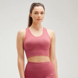 MP Women's Power Longline Sports Bra - Berry Pink - XL