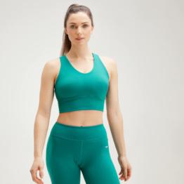 MP Women's Power Longline Sports Bra - Energy Green - L
