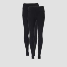 MP Women's Power Mesh Leggings - Black/Black (2 Pack) - XL
