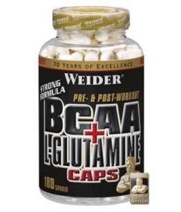 Weider BCAA + L-Glutamine Caps, 180 Kaps.