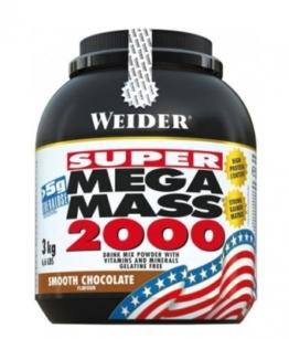 Weider Mega Mass 2000, 3000g Smooth Chocolate