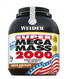 Weider Mega Mass 2000, 3000g Strawberry Delight